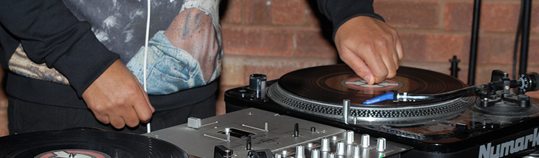 DJs often touch the platter during their sets