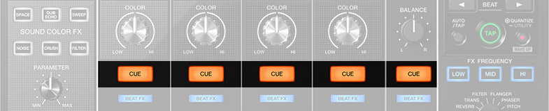 """The """"Cue"""" buttons"""