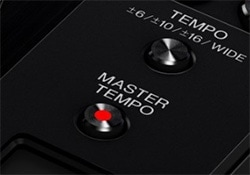 Master Tempo Button on CDJs