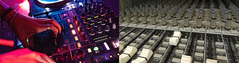 Mixers used by DJs and sound engineers are 2 versions of the same thing