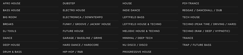 Keep genres broad when tagging tracks