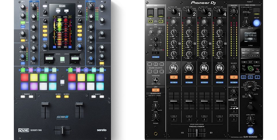 Mixer designs vary depending the style of DJ they're targeted at