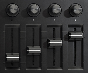 Faders & Knobs close up - MPD226 MIDI Controller