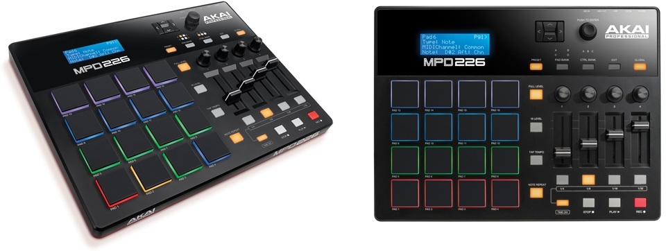 MPD226 Recommended MIDI Controller