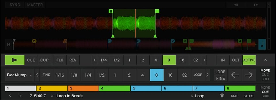 Traktor allows you to remix tracks without actually editing the audio