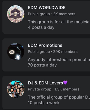 There is a big EDM community